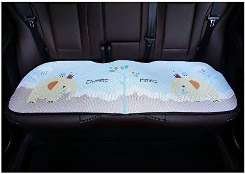 Cojín del Asiento Trasero del Coche- Summer Cool Pad Ice Silk Respirable 3D Cartoon Elefante Cojín Para Asiento Four Seasons Universal