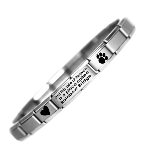 rainbow-bridge-pet-loss-charm-bracelet-stainless-steel-one-size-fits-all-daisy-charm-by-jsc-fits-nom