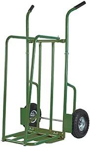 Ribiland Chariot à bûches en acier avec roues charge de 250kg pour bois