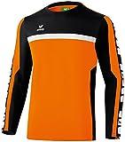 erima Kinder Classic 5-C Trainings Sweatshirt, orange/schwarz/weiß, 152