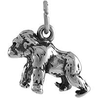 Ciondolo TheCharmWorks in argento Sterling a forma di gorilla