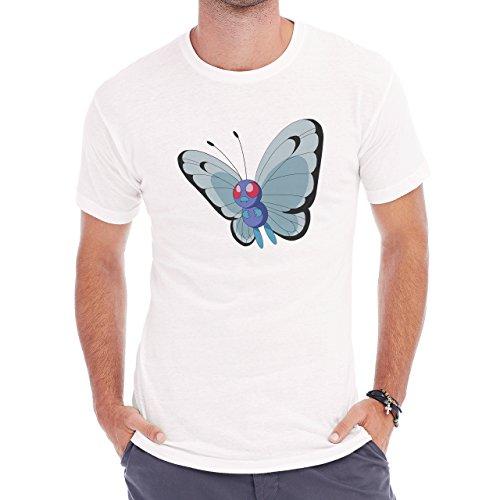 Pokemon Butterfree Air Butterfly Dark Herren T-Shirt Weiß