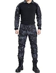 NoGa Ensemble de camouflage style commando Matière souple respirante et résistante à l'usure Veste et pantalon