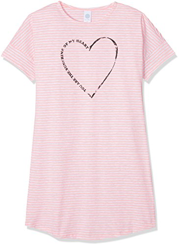 Sanetta Mädchen Nachthemd 244130, Rosa (Neon Peach 3993), 140 (Kurzarm Nachthemd Mädchen)