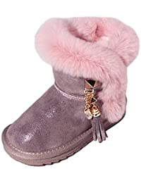 36ac5fd88 ZHWEI Niño Botas De Nieve Niña Botas De Princesa Botas De Algodon Espesar  Niño Zapatos De Algodon Invierno Zapatos Calientes Al Aire…