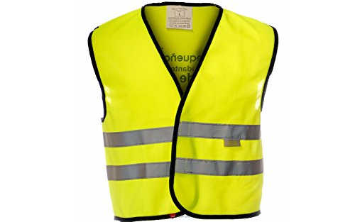 Kids Yellow Hi-Vis Safety Vest Little Helper Grey Stripe Children Reflective Wasitcoat gold