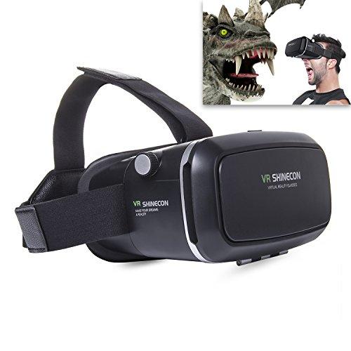 Imanson occhiali 3D VR, realtà virtuale Headset con obiettivo regolabile e cinghia per 4.0pollici inch-6.0Android e iOS smartphone 3D film e giochi (nero)
