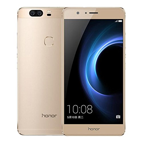Unlocked Huawei Honor V8 4+64GB 4G LTE Dual Sim Full Active Android 6.0 2.5GHz CPU 5.7 inch 2K Display Dual Camera 12MP Gold