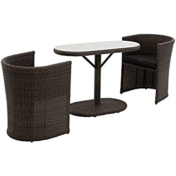balkonm bel set balkonset terrassenm bel platzsparend box stahl pe rattan schwarz grau amazon. Black Bedroom Furniture Sets. Home Design Ideas
