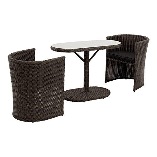 OUTLIV. Balkonmöbel Set Rattan Breakfast Balkonset 3-tlg Poly-Rattan 2er Sitzgruppe Lounge Set