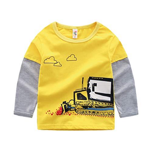 Makalon Baby Junge Mädchen Süß Karikatur Drucken Bluse Kleinkind mit Langen Ärmeln Freizeit Sweatshirt T-Shirt Kinder Baumwolle weiche lässige Top Kleidung ()