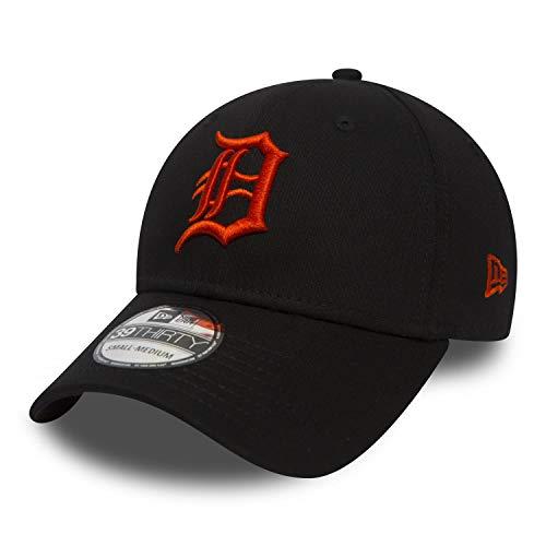 New Era 39Thirty MLB League Essential Detroit Tigers Cap schwarz/orange, M/L