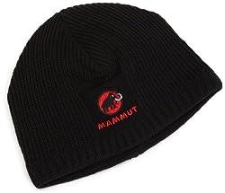 Leichte Strickmütze mit Mammut-Logo.Produziert in Deutschland (Made in Germany)Feinmaschige StrickmützeFleece-InnenseiteProduziert in Deutschland