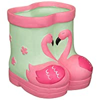 A2Z Home Solutions Brighten Up Your Summer With Decorative Feature Kids Ceramic Welly Planter Flowers Pot Backyard Garden Ornament -Flamingo