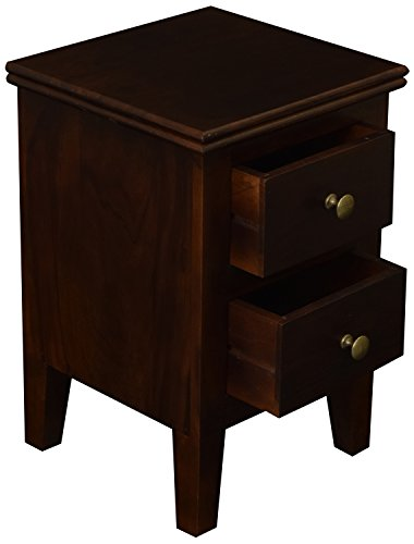 Solid Wood Designers IABS008 Bed Side Table (Expo Walnut)