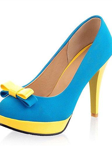 WSS 2016 Chaussures Femme-Mariage / Habillé / Décontracté / Soirée & Evénement-Bleu / Jaune / Rouge / Orange-Talon Aiguille-Talons-Talons-Matières yellow-us6.5-7 / eu37 / uk4.5-5 / cn37