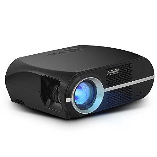 Video Beamer 3500 Lumens, COLORFUL LCD 1080P Full HD Projektor, für Heimkino Laptop TV Spiel Video Home Entertainment,GP100 Express Laptop-lcd