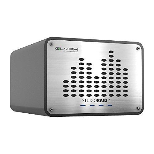Festplatte Fw800-externe (Glyph 8TB studioraid4FW800/USB3/eSATA Pro Desktop Festplatte–Silber)