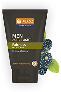 Vlcc Men Active Light Fairness Face Scrub - 100gm