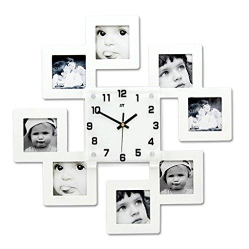 DIY Frame Uhr, TimeLike DIY Wanduhr Modernes Design DIY Bilderrahmen Uhr Kunststoff Kunst Bilder Clock Einzigartige Klok Home Decor - Machen Sie Ihre eigene Multi-Photo Clock ( Farbe : C ) (Bilderrahmen Machen Sie Ihre Eigenen)