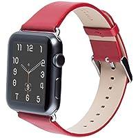 Cinturino per Apple Watch Series 1 & 2, FUTLEX 42mm Ricambio Cinturino (Adattatori inclusi) in Vera Pelle Classic con Fibbia in Metallo per Apple Watch - Rosso