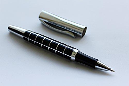 Kugelschreiber hochwertig von greewrite Metallkugelschreiber edel schwarz silber design Luxus