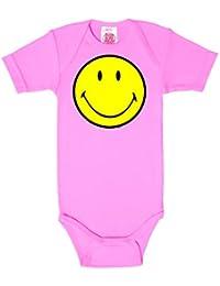 Original Smiley Face - Heureux - Émoticône Body pour bébé - Gigoteuse - rose - Design original sous licence - LOGOSHIRT