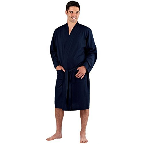 Save 53% - Mens Dressing Gown Lighweight Cotton Rich Jersey