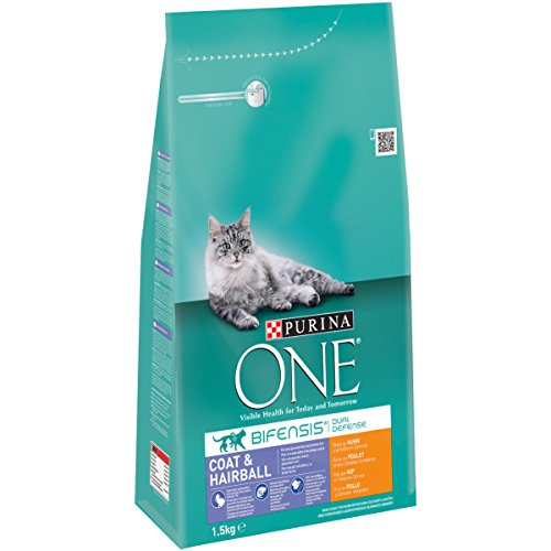 ONE Coat & Hairball HUHN, 3er Pack (3 x 1.5 kg)