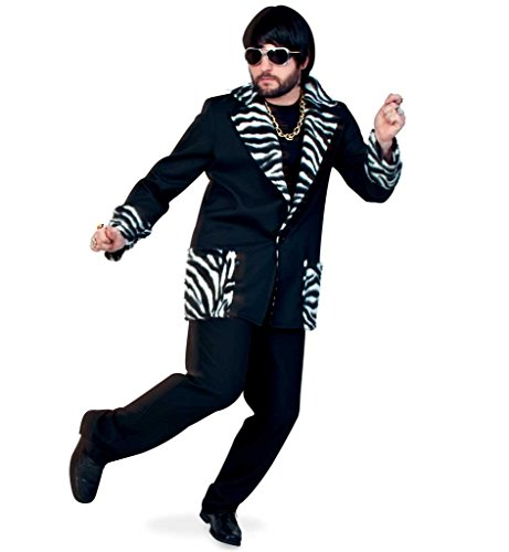 KarnevalsTeufel Jacke Fredi für Männer mit Zebra-Muster, Jackett, -
