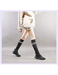 XINGMU Asistente De Alta Botas Calcetines De Tubo De Aire Respirable Colegio Casual Zapatos Deportivos 34 Negro