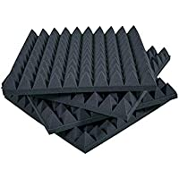 KeyHelm - Paneles Piramidales Absorción De Sonido 50x50x6cm D25 - Paquete de 20