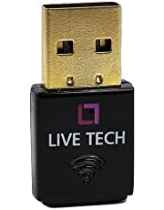 Live Tech Nano USB WiFi Dongle Adapter 300Mbps Real High Speed with USB Gold Plated