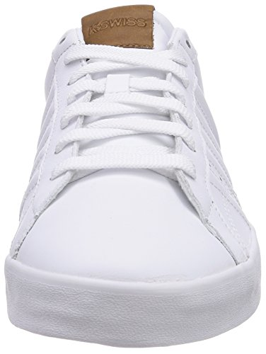K-Swiss BELMONT, Sneakers basses homme Blanc - Weiß (WHITE/RED 119)