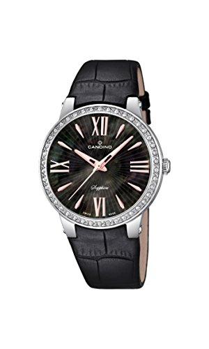 Candino - C4597/2 - Montre Femme - Quartz - Analogique - Bracelet Cuir noir