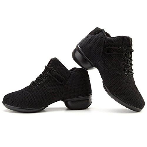Mesh up Shoes Soft Dance Lace Breathable Oasap Black Sole Women's wqgSqUxB