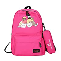 juntop 2019 summer new shoulder bag cartoon character casual student bag wild fashion candy color E 1