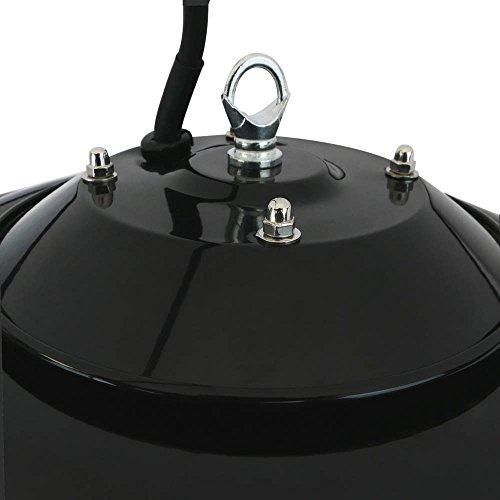 PrimeMatik – Decke Heizung Heizkörper für Innen und Außen Bar Restaurant Terrasse 420mm 1500W mit Fernbedienung - 5