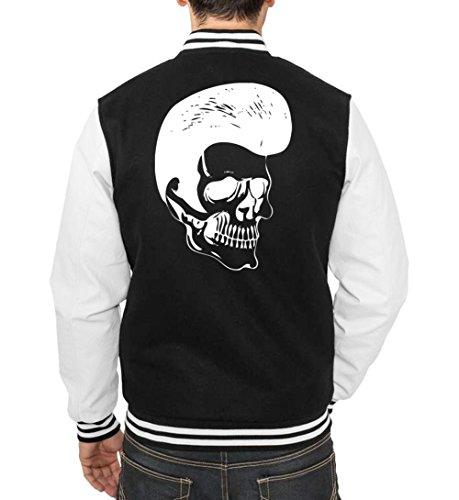 Rockabilly Skull College Vest Black Certified Freak-L