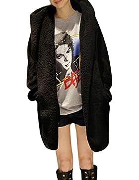 [Patrocinado]Escudo, abrigo,Internet Abrigo esponjoso con capucha de invierno cálido de las mujeres Chaqueta de Piel Sintética...