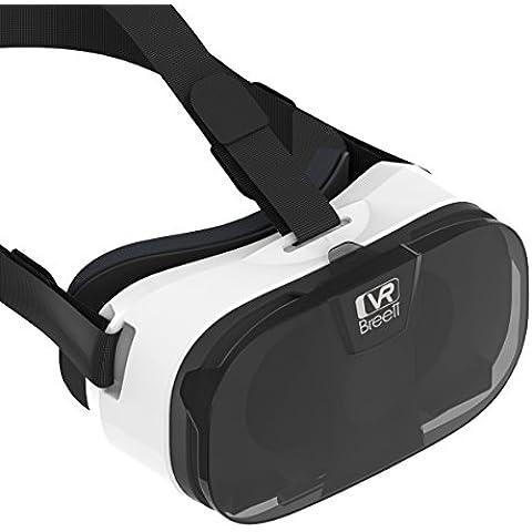 3D Occhiali, VR, Breett 3D VR realta virtuale Occhiali Auricolare per i film 3D e giochi con per Android, iPhone o Windows di Smart Phones 4.0-6.5 pollici (2016 nuova versione, 263g)