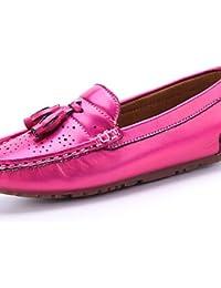 ZQ gyht Zapatos de mujer - Tacón Plano - Punta Redonda - Planos - Casual - Semicuero - Blanco / Plata / Oro , silver-us7.5 / eu38 / uk5.5 / cn38 , silver-us7.5 / eu38 / uk5.5 / cn38