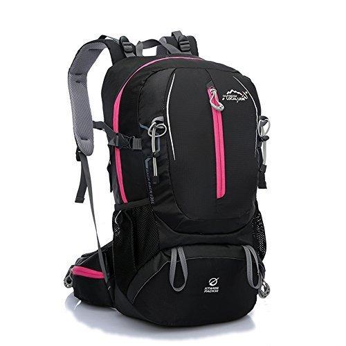Diamond Candy Zaino da Trekking Outdoor Donna e Uomo con Protezione Impermeabile per alpinismo arrampicata equitazione ad Alta Capacitš€ borsa da viaggio,Multifunzione, 35 litri Nero