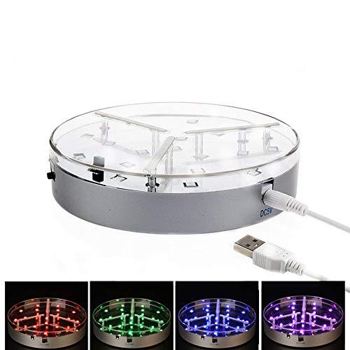 Shisha LED-Licht, KITOSUN 15cm Durchmesser 19-LED RGB Multi Farbe Portable LED-Licht mit IR-Fernbedienung, wiederaufladbare batteriebetriebene wiederverwendbare LED-Licht für Halloween-Party