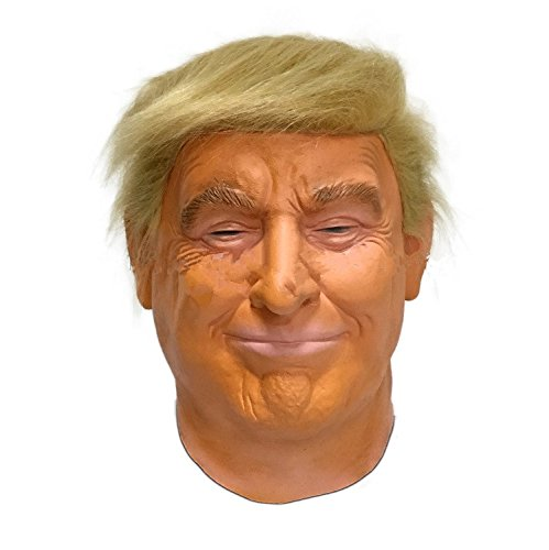 Hengyutoy Mask PartyCostume Deluxe Novità Halloween Costume Festa Latex Uomo Testa Maschera Donald John Trump