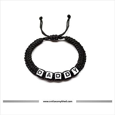 Bracelet avec prénom DADDY (réversible, personnalisable) homme, femme, enfant, bébé, nouveau,né.