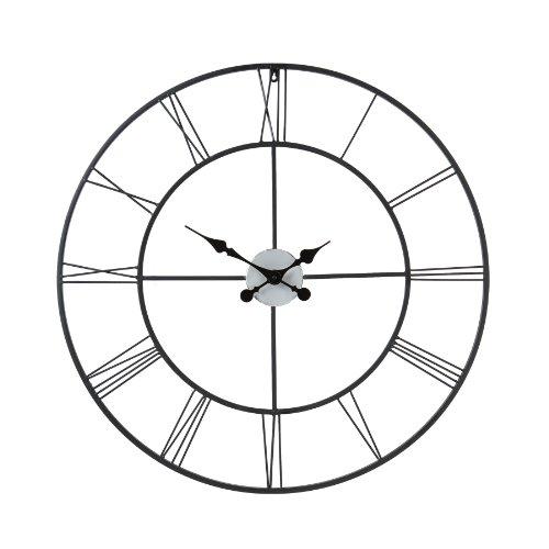 decorative-wall-clock-in-polvere-nera-in-metallo-verniciato