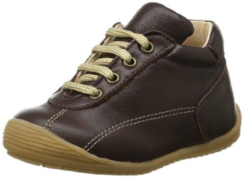 Pololo  Anton castagno, Chaussures de ville à lacets pour garçon Marron - Braun (castagno 600)