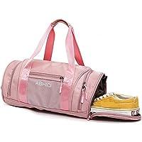Viajar Bolsa de Gimnasio - Belegao Deportes Bolso Impermeable Bolsa de Yoga Dry Wet Separated Entrenamiento Bolsa de Lona Semana Bolsa de Asas con Zapatos Compartimiento para Hombres Mujeres niños