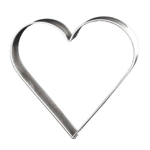 Lares Ausstechform Herz 12 cm - Lebkuchen Keks Plätzchen Ausstecher